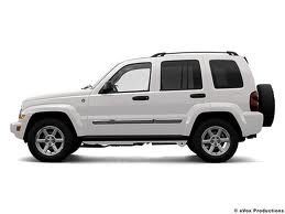 2007 White Jeep Liberty Sport