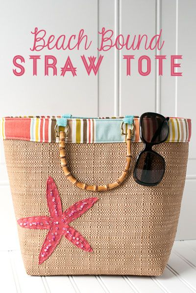 Download this free pattern for a Summer Purse at WeAllSew.com. Pattern for this straw tote by Melissa Mortenson of Polka Dot Chair blog.