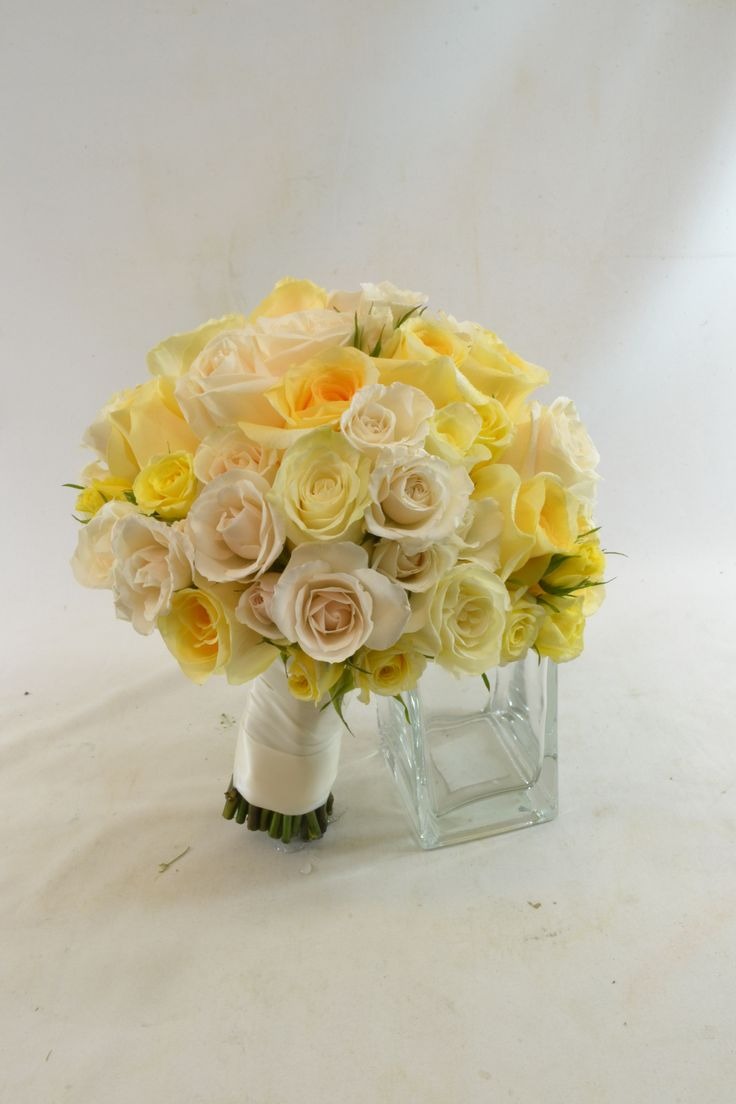 Bridal bouquet with roses. www.plushflowers.ca
