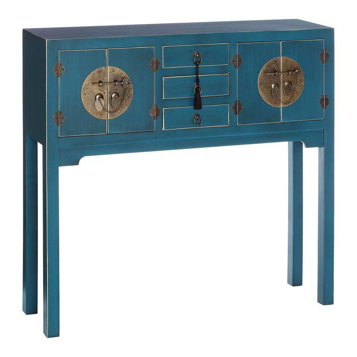 Kireina Large Console Table, Blue