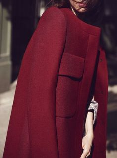 Loving this burgundy coat. #fashion #chic #elegant