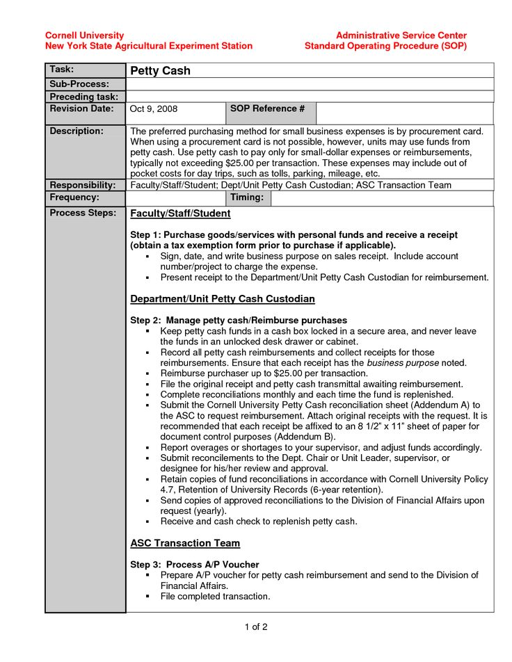 Best 25 standard operating procedure template ideas on for Written procedure template