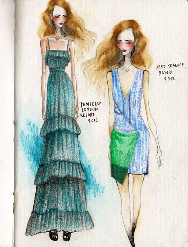 Fashion Sketches by Wa-tinee Paleebut -30 Cool Fashion Sketches, http://hative.com/30-cool-fashion-sketches/,