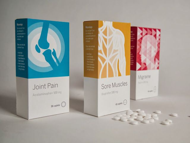 Pharmaceutical Packaging Inspiration - Student design for painkiller packaging…