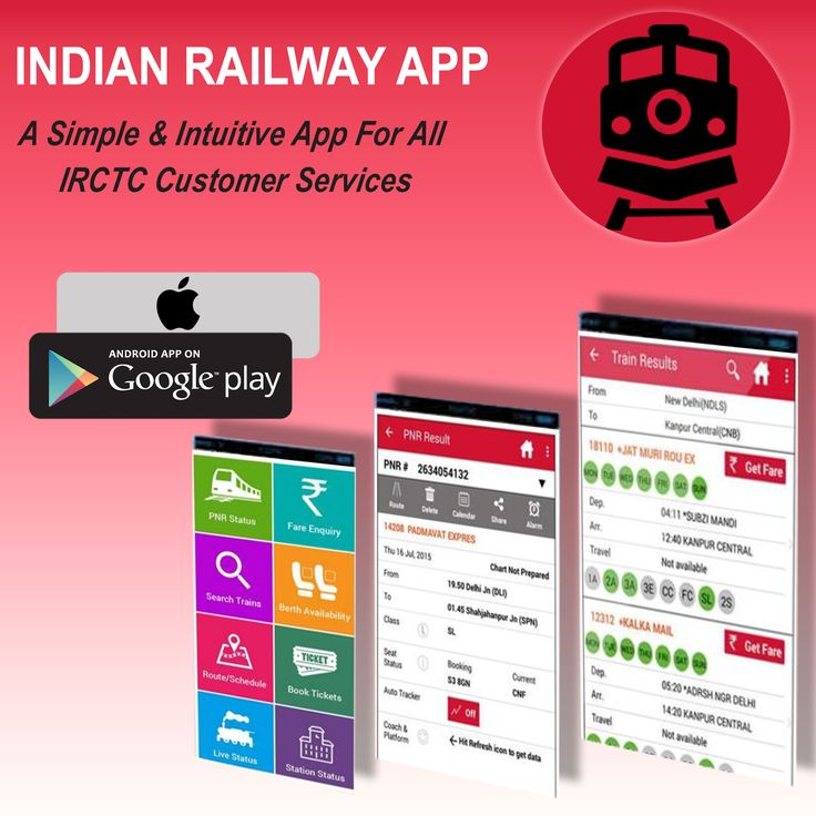 This Indian Railway App is fastest Train Seat Availability checking app in India. Check Train Berth availability for all trains between two stations with just one click. Find Indian railway status, Train fare, Train PNR Status and more.