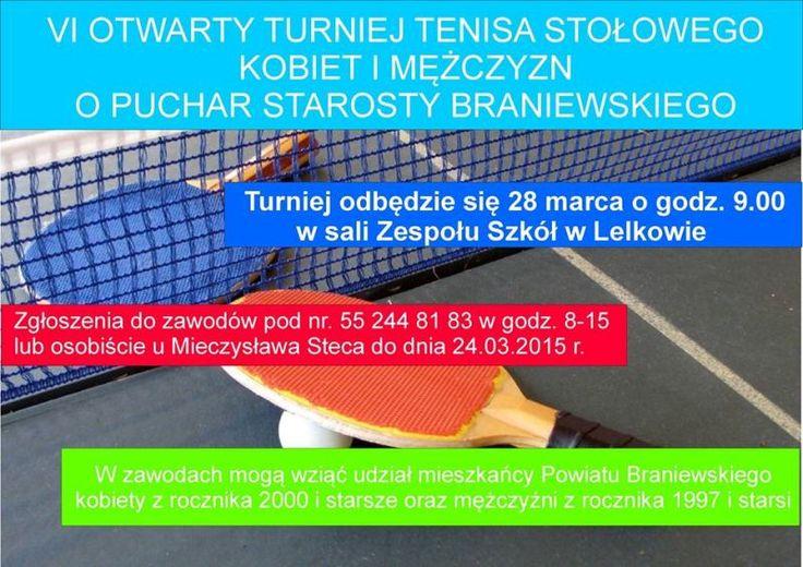 VI Otwarty Turniej Tenisa Stołowego Kobiet i Mężczyzn