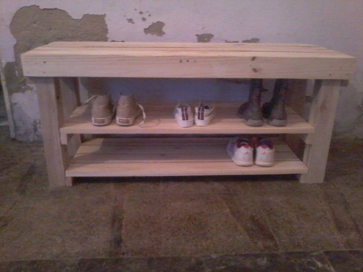 17 best images about mis trabajos hechos de pallets on for Cama zapatero