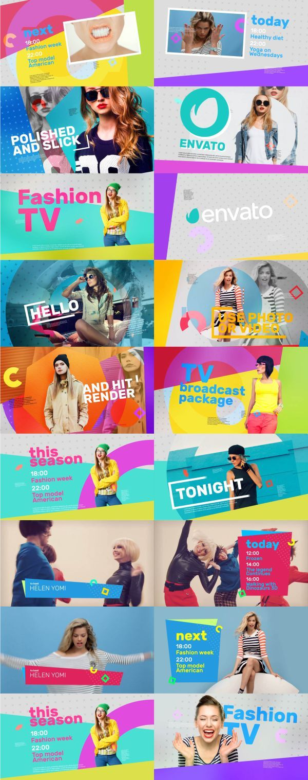 Modern Broadcast Package  blog, broadcast, channel, credits, identity, intro, lower third, media, network, open, pack, show, stream, tv, youtube