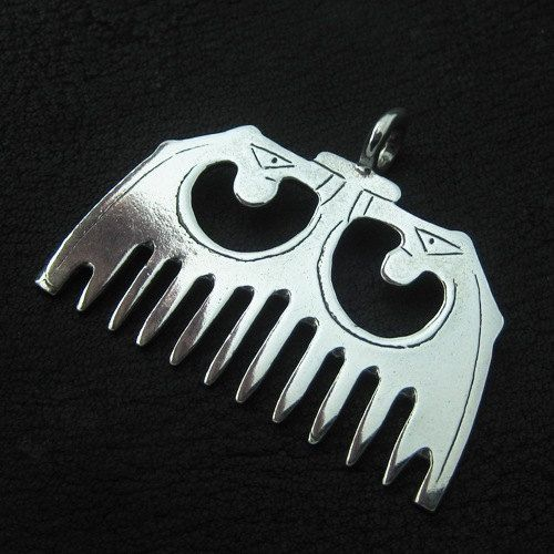 Silver medieval comb by Sulik on Etsy