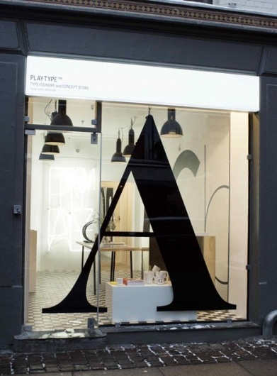 Designspiration — Dezeen » Blog Archive » Playtype foundry and concept store by e-TypesShops Windows, Stores Front, Stores Windows, Windows Display, Concept Stores, Typography, Letters, Design, Shops Front