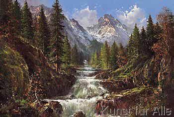 Helmut Glassl - Wasserfall In Den Karpaten