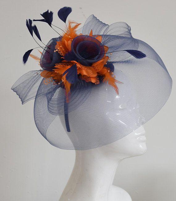 Fashion Lady Tulle Headband Flower Veil Fascinator Top Hat Hatinator Hair band
