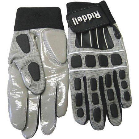 Riddell Armor Tac Warrior Football Glove Lineman Adult, Gray