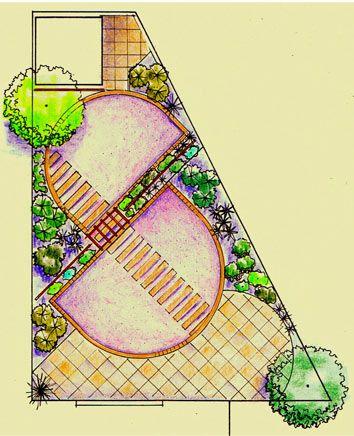 small irregular shaped garden plan