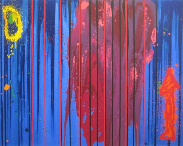 John Hoyland, Follow Your Bliss, 2000 at www.meadcarney.com   #JohnHoyland #MeadCarney #London #art #artgallery