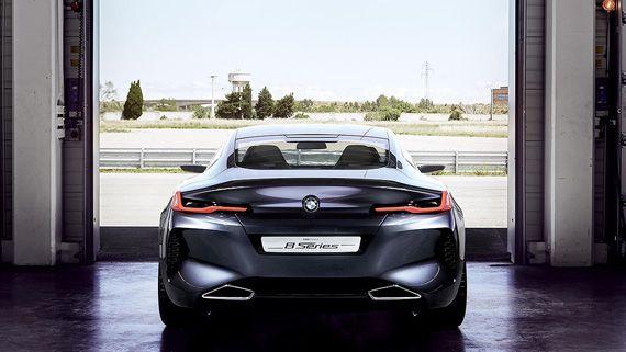 Концепт купе BMW Concept 8 series / БМВ 8-серии – вид сзади