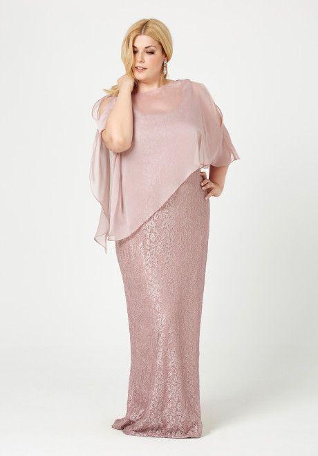 Vestidos de Fiesta tallas grandes, curvy! Bodas y ceremonias. #rosa #curvy #moda #fashion #vestidos #tallasgrandes