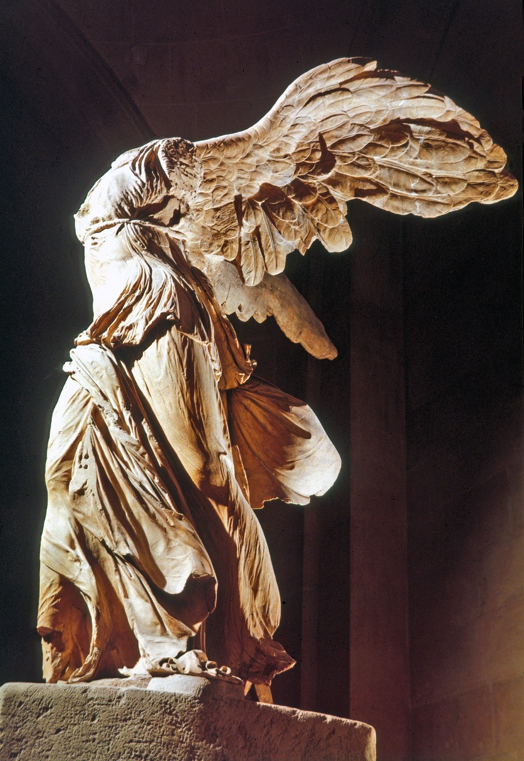 The winged goddess Nike (victory) was the daughter of the ...