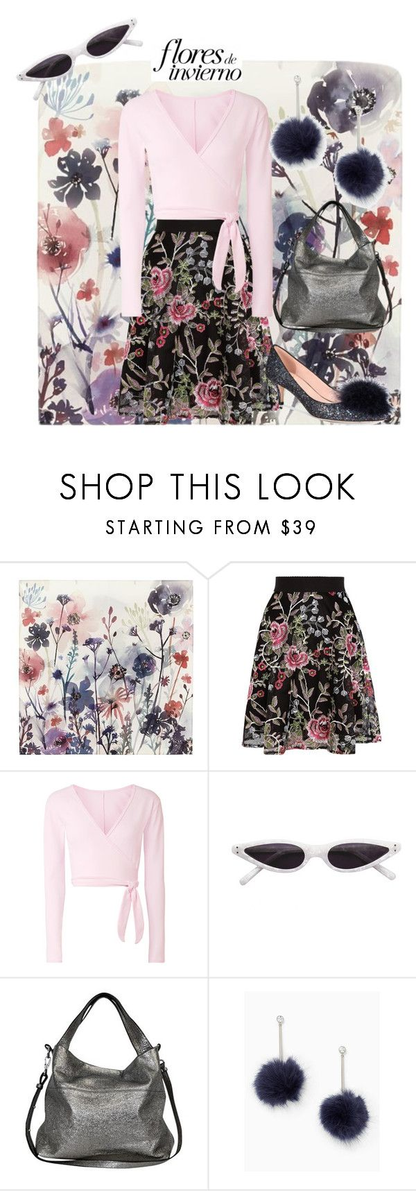 """""""Flowers of Spring"""" by aqualyra ❤ liked on Polyvore featuring PBteen, Ballet Beautiful, Boden, Kate Spade, floralprint, fashionset and spring2018"""