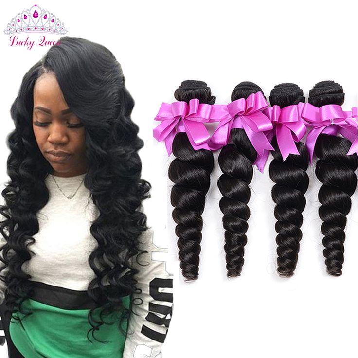 Brazillian Virgin Hair 4PCS Brazilian Loose Wave 7A Unprocessed Brazilian Virgin Hair Loose wave Rosa Hair Products Loose Curly