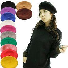 12 cores mulheres boina elegante Artist Rabbit Fur Lapin jornaleiro Beanie moda primavera outono inverno Faux chapéu de pele 06CD(China (Mainland))