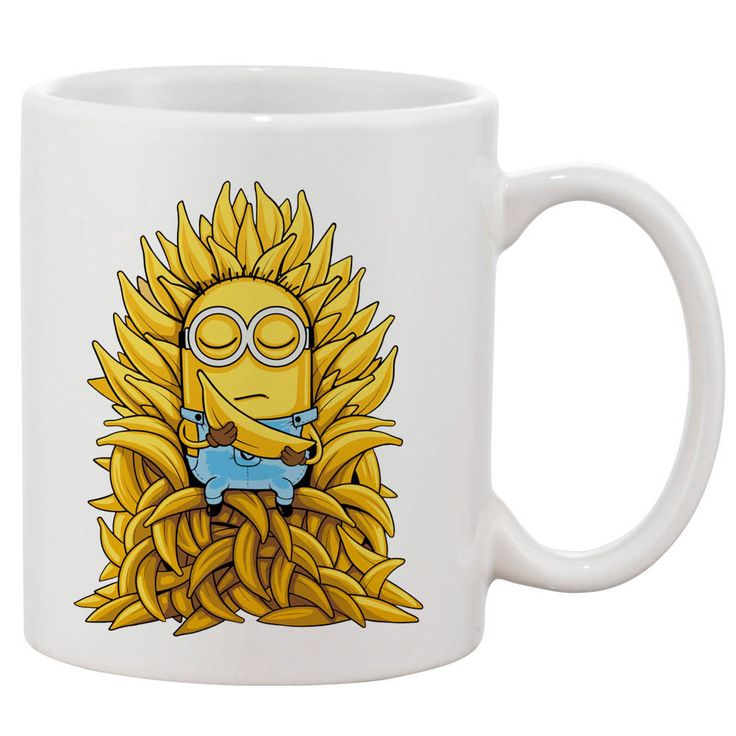 Minion Gmae Of Thrones White 11 oz. Printing Ceramic Coffee Mug