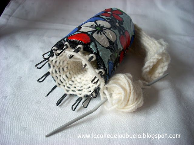 Tricotín casero y artesanal paso a paso.  La calle de la abuela
