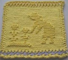 Mary and Her Garden Dishcloth Pattern