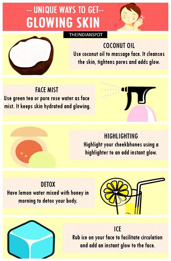 UNIQUE WAYS TO GET GLOWING SKIN
