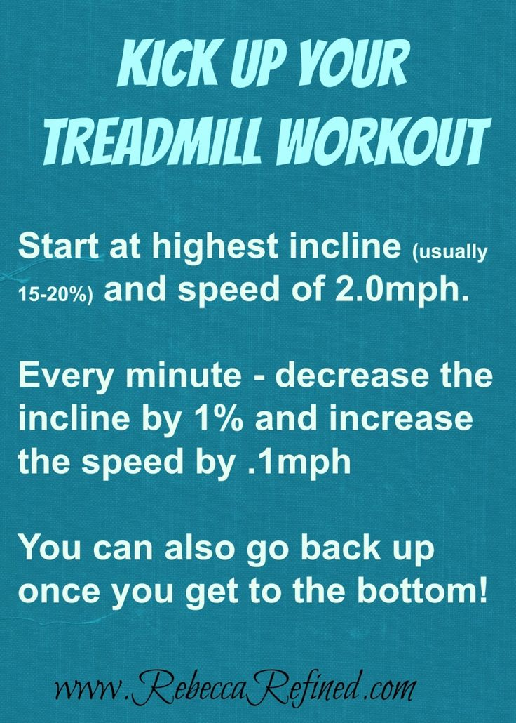 Great low impact treadmill workout by Rebecca Refined.