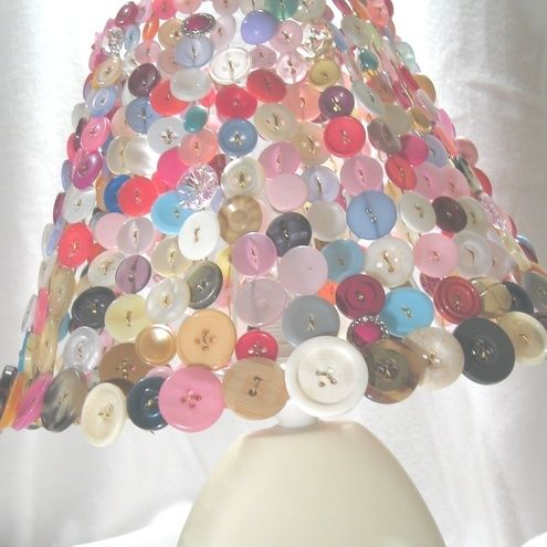 My hunt for unusual lamps is over with this Button Bright Button Lampshade by #buttonbead. DO I have the patience to make this? No,so £45 is a fair price to pay for someone else's patience.