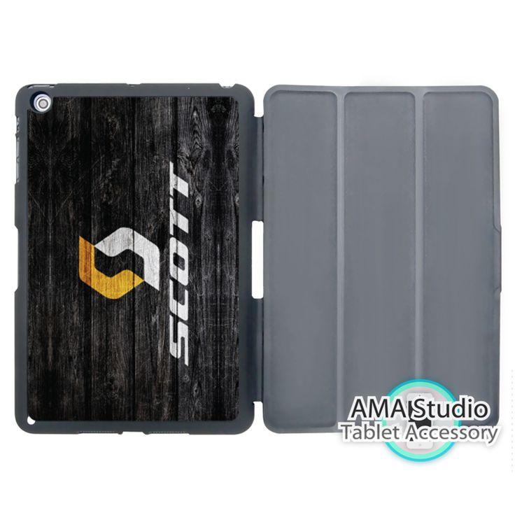 Scott Bike Bicycle Wood Pattern Print Smart Cover Case For Apple iPad Mini 1 2 3 4 Air Pro 9.7