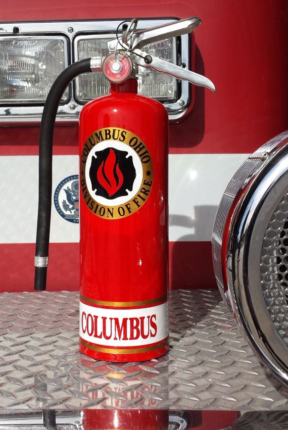 Firefighter Custom Painted Fire Extinguisher From Cavella Design