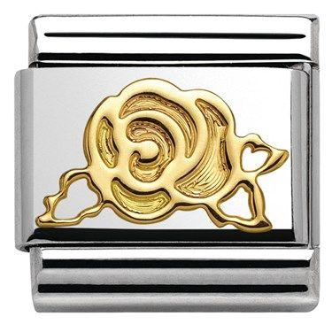 Nomination Gold Rose Charm | Argento.co.uk
