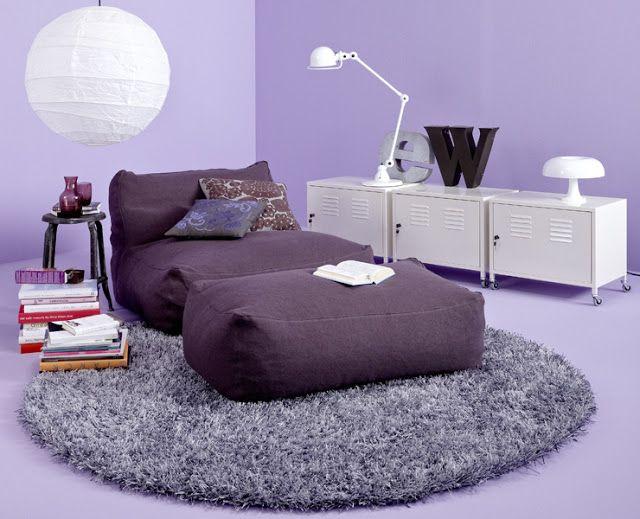 modern purple chaise lounge