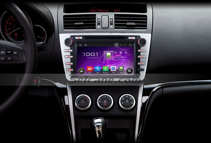How to install 2008-2012 Mazda 6 Ruiyi Radio with navigation system steering wheel control