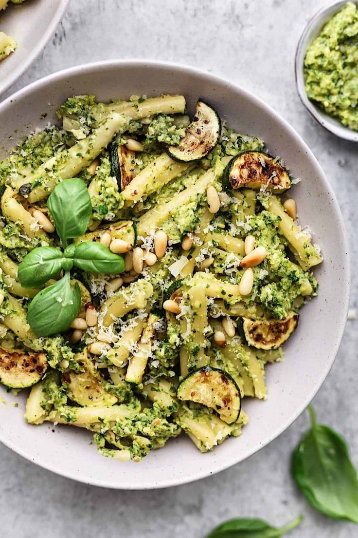 Roasted Courgette Pesto Pasta Recipe Food Recipes Pasta