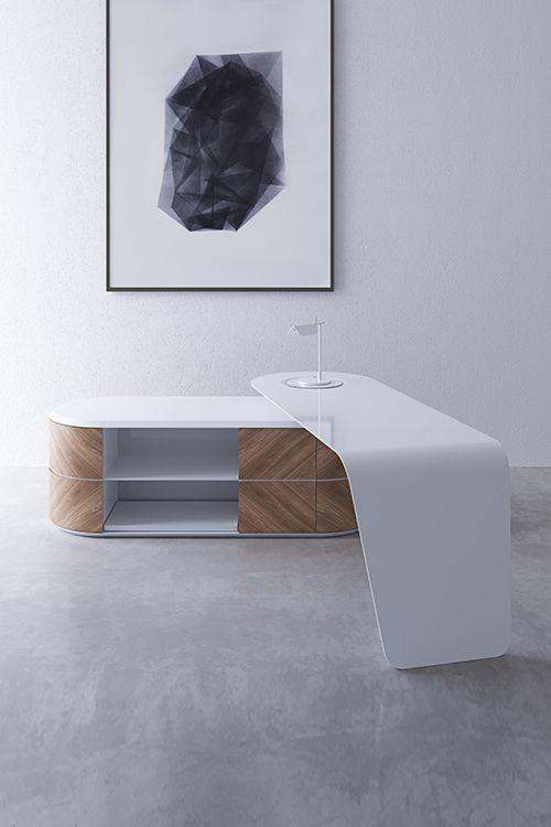 Emoziono Desk and Console https://propertyfurniture.com/product/emozioni-desk-console/  Also take a look at: 13 Modern Small Home Office Desks http://vurni.com/modern-small-home-office-desks/