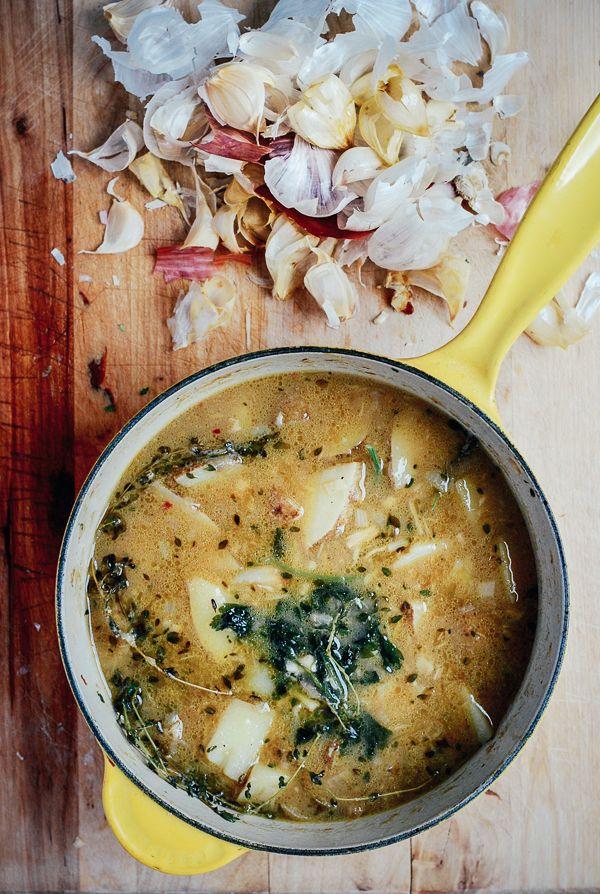 garlic soup // brooklyn supper