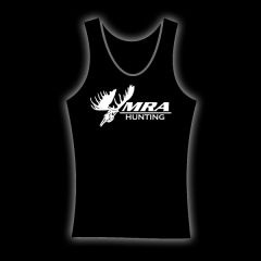 MRA Womens Black Tank    Shawn Michaels' MacMillan River Adventures Signature Women's Tank. Black with White MRA Hunting Logo on the front