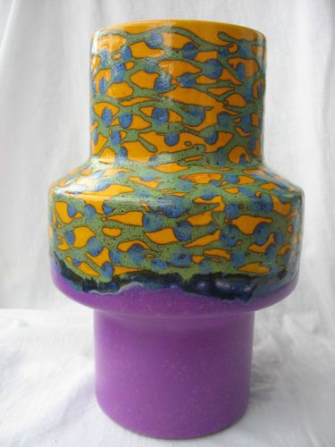 COLOURFUL POP ART VASE FAT LAVA PURPLE 60s 70s W.GERMANY DÜMLER&BREIDEN RARE !