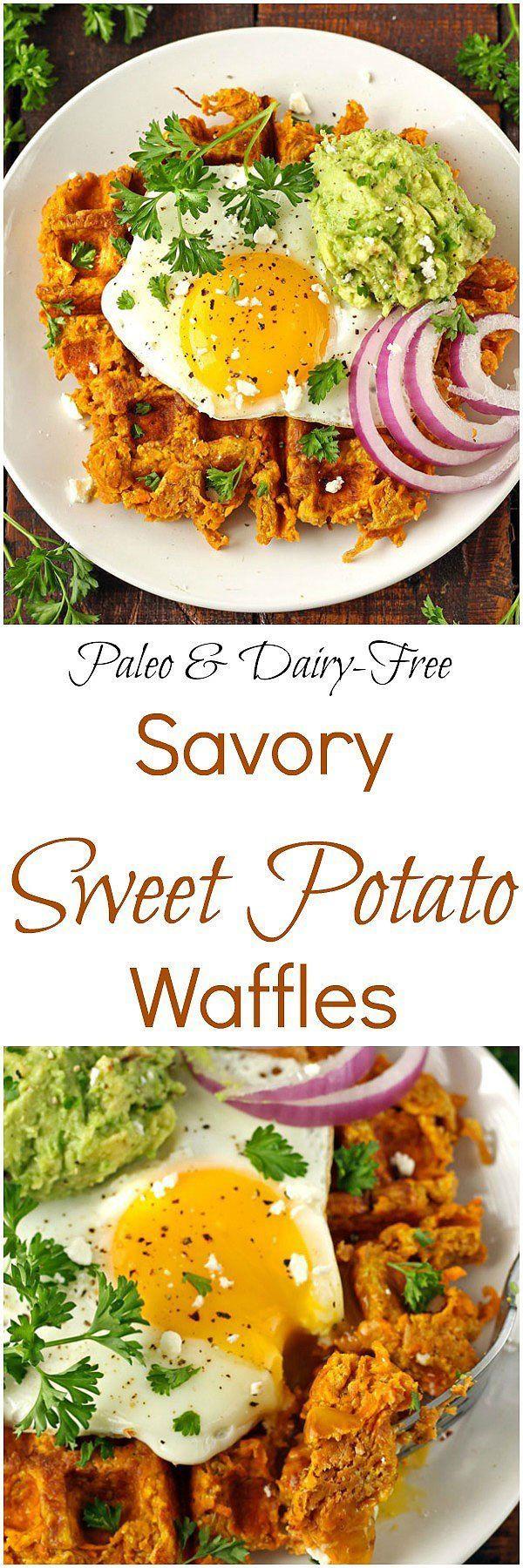 Savory Sweet Potato Waffles [Paleo / Gluten-Free]