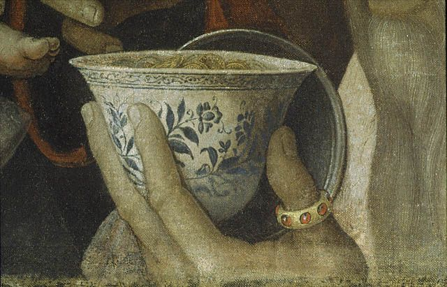 Andrea Mantegna | Adoration of the Magi: Coins in cup | about 1495 - 1505