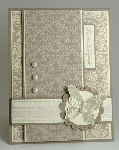 Bella Beau DSP - handmade card .... monochromtic grays ... clean design ...  Wedding or anniversary ... formal look damask designs in paper ...