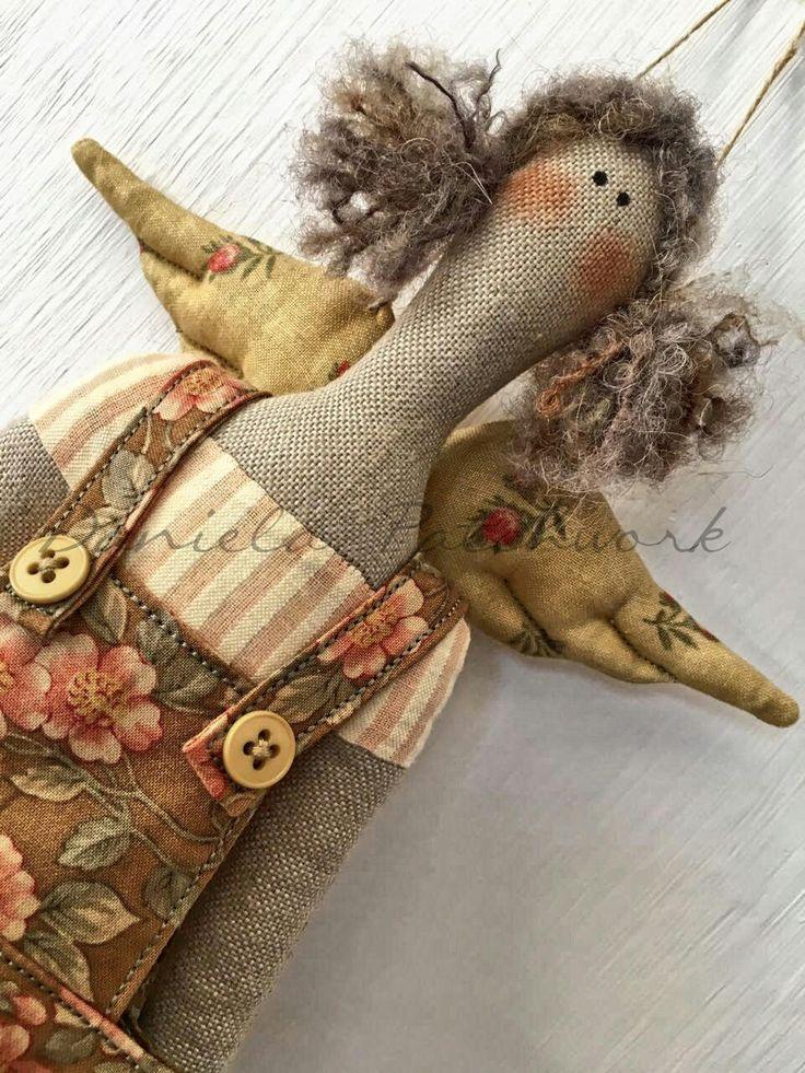 Tilda doll - Bambola country - Arredo cameretta di DanielaPatchwork su Etsy
