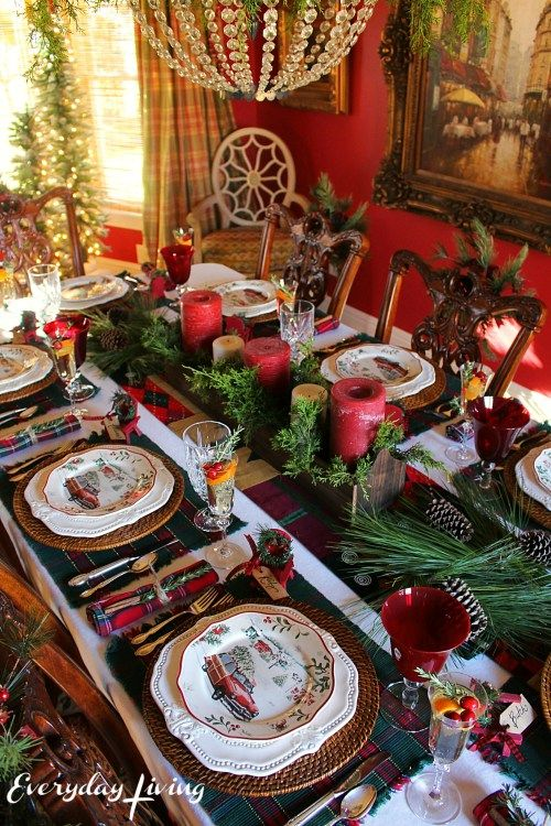 544 Best Images About Christmas Tablescapes On Pinterest