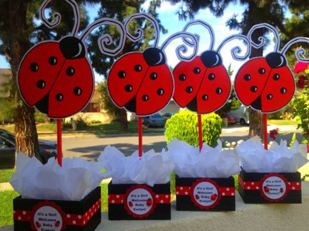 baby shower centerpieces centerpiece ideas ladybug baby showers