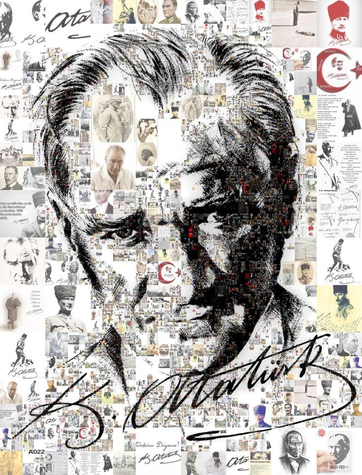 Birçok Resimden oluşan tek Atatürk Resmi.