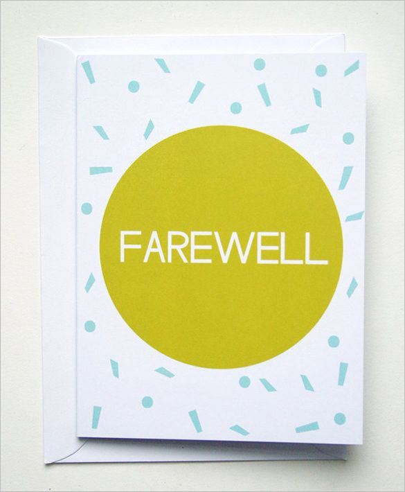 Goodbye Card Print Free Just B Cause