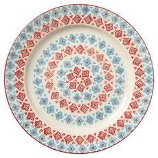 Leyla Large Plate - Blue/White